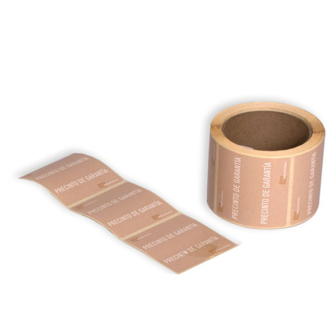 Etiqueta adhesiva precinto de garantia