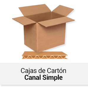 Cajas de Cartón Canal Simple