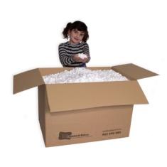 Caja de material de relleno y proteccion