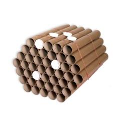 Tubo cartón 50 x 520 mm. Marrón
