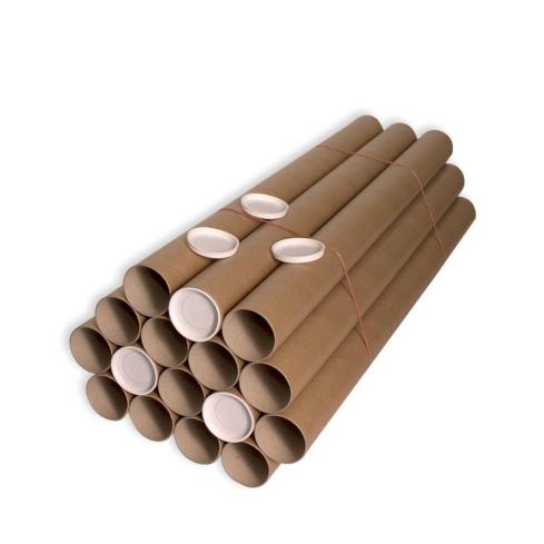 Tubo cartón 76 x 1000 mm. Marrón