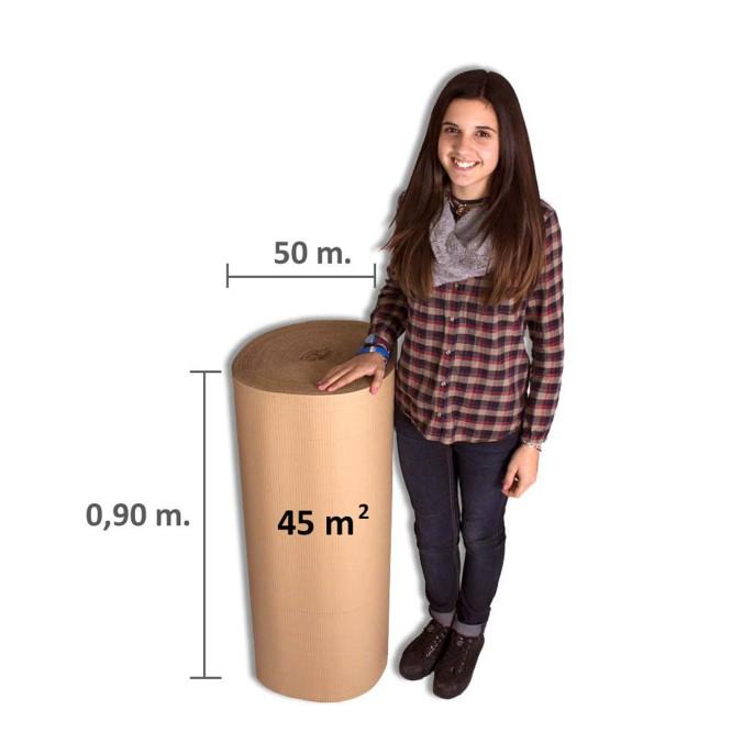Bobina carton ondulado de 90cm x 50mt