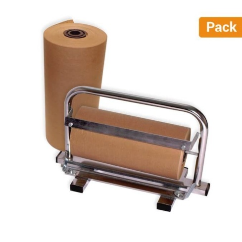 Pack 2 Bobinas de Papel Kraft 31cm + Dispensador