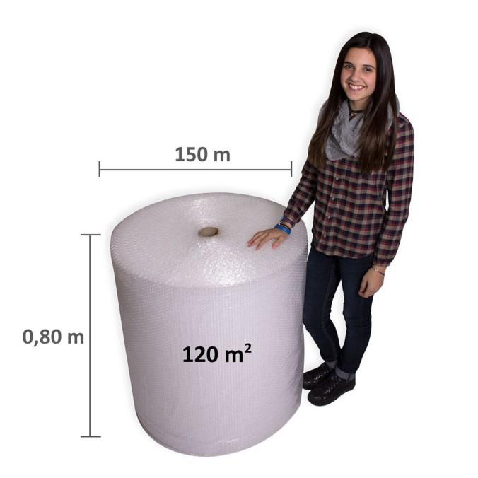 Plastico burbujas 120m2