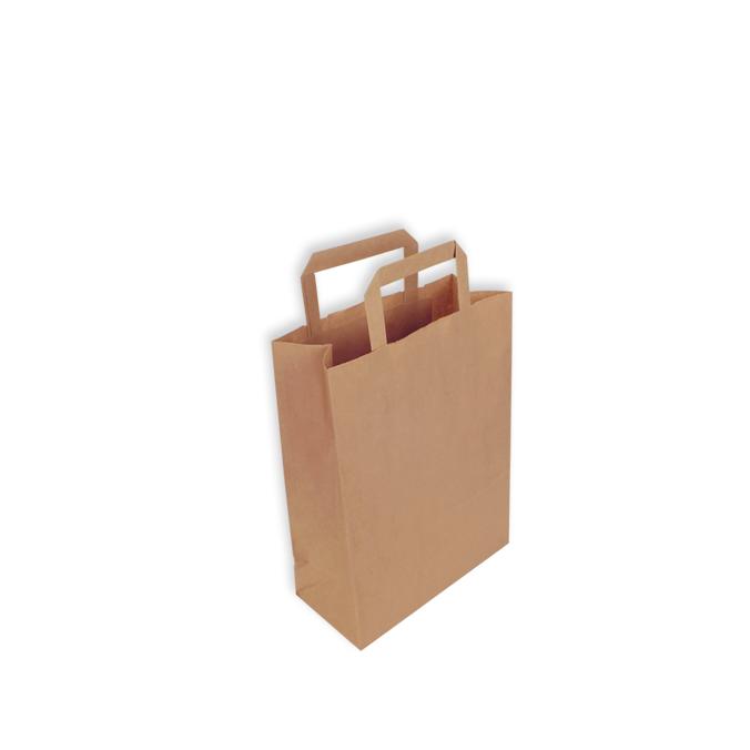 nueva alta calidad comprar lo mejor linda Bolsas de Papel Kraft Asa Plana 22 + 10 x 29 cm