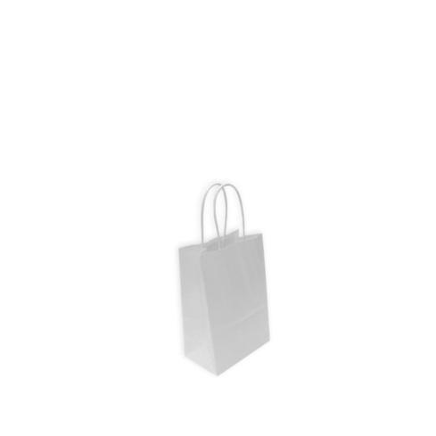 Bolsas de Papel Blancas 14+8,5x21,5cm. Mini