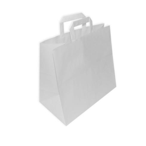 Bolsas de Papel Asa Plana TAKE AWAY 32 + 17 x 29cm