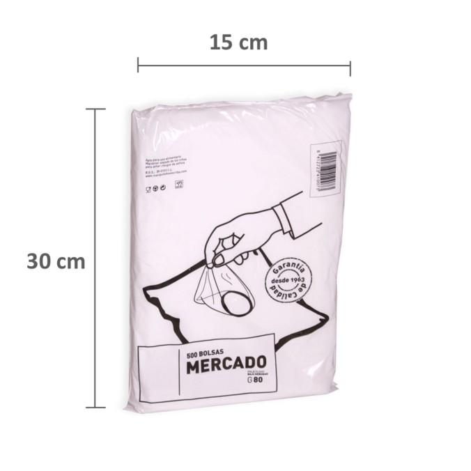 bfc078a1b Bolsas de plástico 15 x 30 cm - Bolsas Transparentes de Mercado