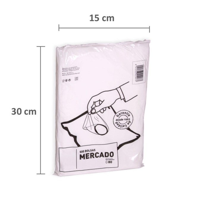Bolsa plastico 15x30cm