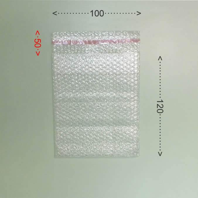 Bolsa de burbujas con cierre adhesivo 100x120mm.