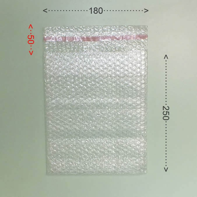 Bolsa de burbujas con cierre adhesivo 180x250mm.