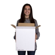 Caja de cartón para 6 botellas blanca