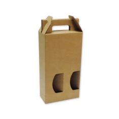 bde54691e Caja de cartón para 2 botellas con ventanas | Cajadecarton.es