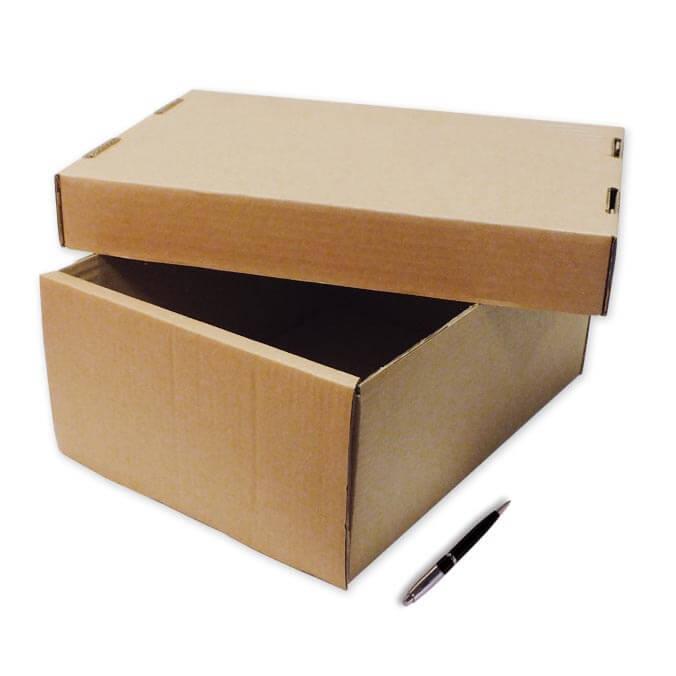 Caja con tapa 385x285x165mm for Caja madera con tapa