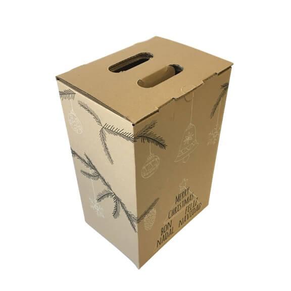 Caja de carton lote Navidad 4 botellas