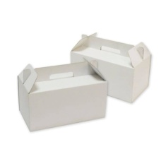 Caja maletín para picnic blanca