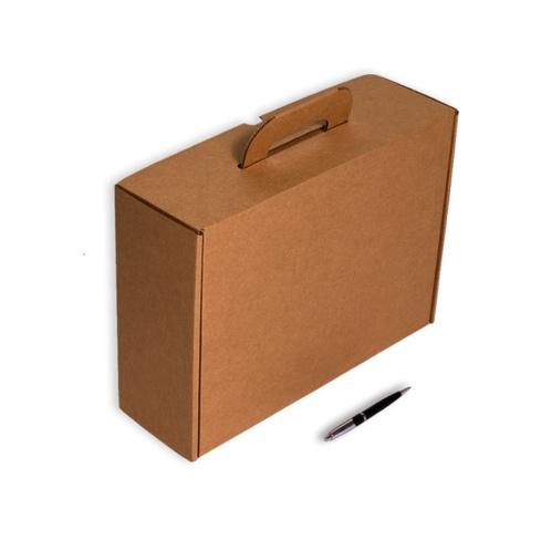 Envío Muestras (2Unidades) Caja Maletín Asa Cartón