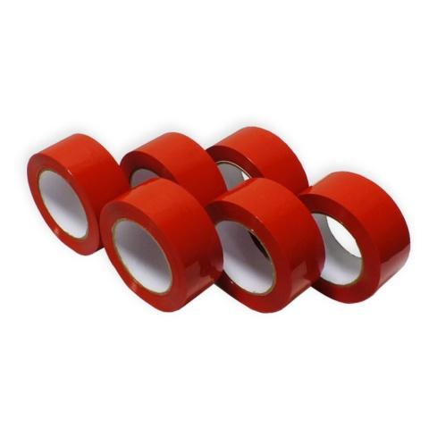 Cinta Adhesiva Roja de Polipropileno 121 m
