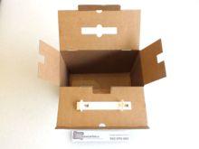 Caja de carton maletin para envio abierta 280x130x234mm