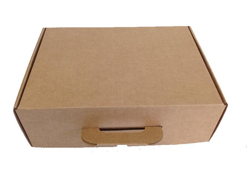 Caja Maletín asa cartón Impresa 350x118x255mm