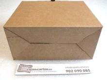 Caja de carton maletin para envio vista inferior 280x130x234mm