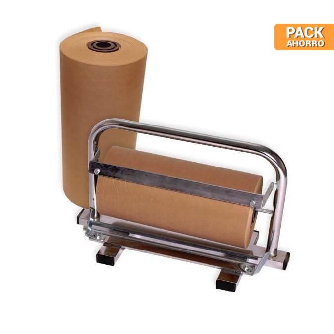 Pack 2 Bobinas de Papel Kraft 31cm + Dispensador