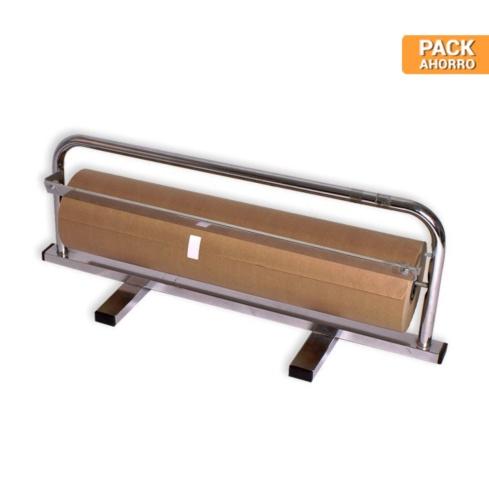 Pack 1 Bobina de Papel Kraft 62cm + Dispensador