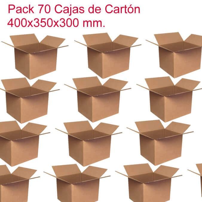 Pack 70 cajas de cartón de 400x350x300mm