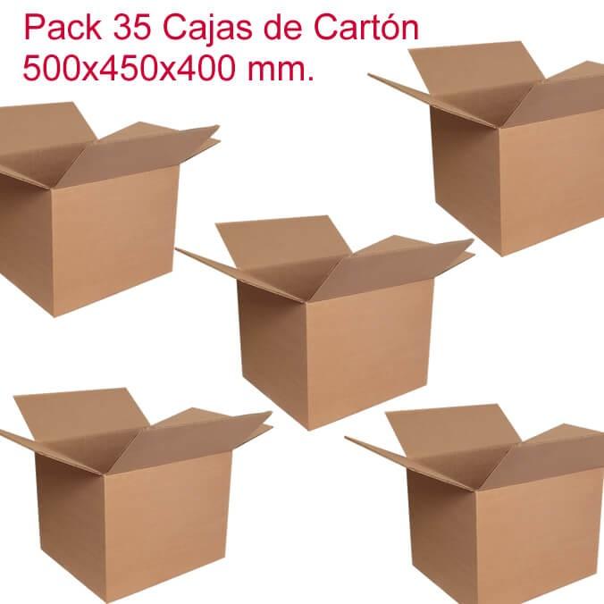 Pack de 35 cajas de cartón de 500x450x400mm