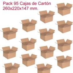 Pack de 95 cajas de cartón de 260x220x147mm