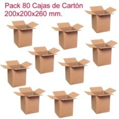 Pack de 80 cajas de cartón de 200x200x260mm