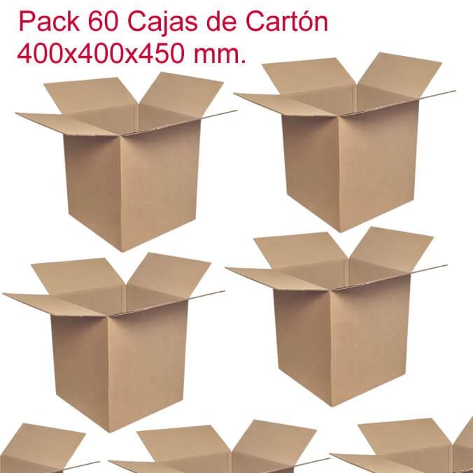 Pack de 60 cajas de cartón de 400x400x450mm