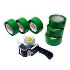 Pack cierra cajas PP 121m. Cinta Adhesiva Verde