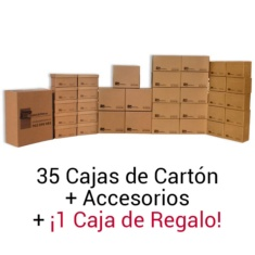 Cajas de carton para mudanza basica