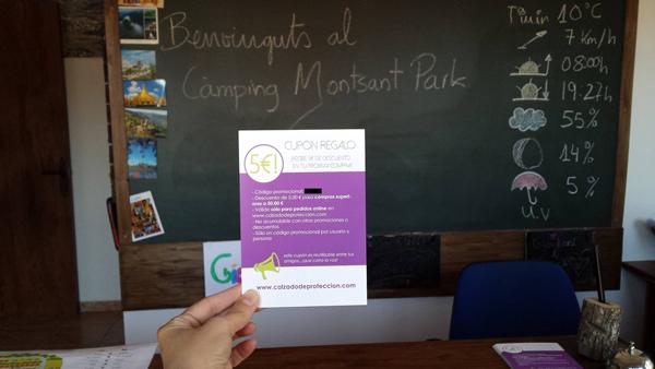 Nuestros flyers ya están presentes en el Camping Montsant Park