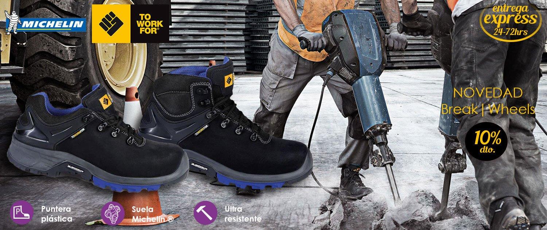 To Work For - Zapatos y botas de seguridad con suela MICHELIN®. Es una suela multifuncional diseñada para trabajos al aire libre como el sector de la construcción.