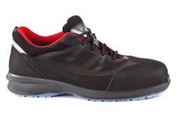 Zapatos de seguridad ergonómicos con puntera de protección composite no metálica y plantilla antiperforación textil tipo Kevlar. Calzado 100% metal free. Excelente calzado de trabajo extraligero y muy flexible