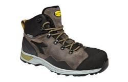 Botas de seguridad Diadora D-TRAIL LEATHER HIGH S3 SRA HRO WR CI gris piedra