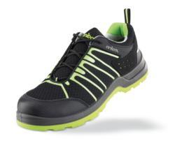 Zapatos de seguridad Metal Free sin componentes metálicos, fabricadas en microfibra con lateral perforado para mejor ventilación. Suela ultralight de poliuretano de doble densidad de alto coeficiente anti-deslizante nivel SRC. Es un calzado muy ligero y f