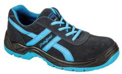 Zapatillas de seguridad deportivas Piel Serraje 100% Natural, transpirables y con suela antideslizante. Calzado de seguridad con 3 B, Bueno, Bonito y Barato