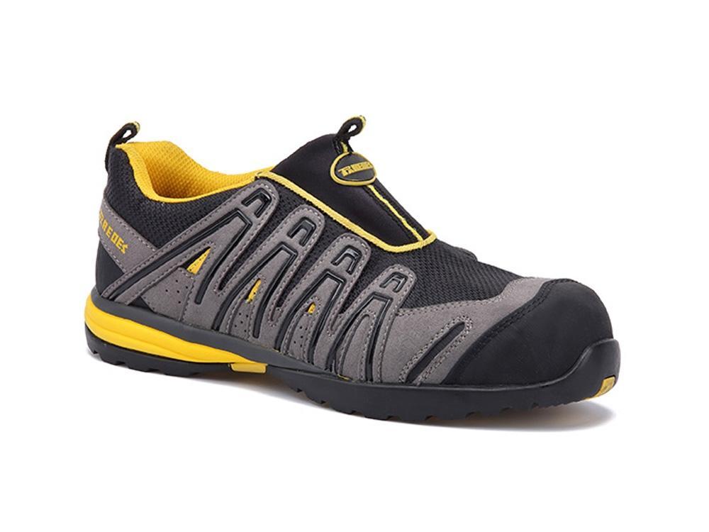 zapatos de seguridad deportivos sin cordones paredes ozono s1p