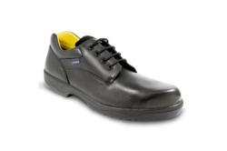 Zapatos de Seguridad tallas 48, 49, 50, 51, 52, 53 fabricado en excelente piel Flor S3, su gran ligereza, excelente flexibilidad y muy alto confort.
