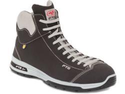 Zapatos de seguridad deportivas con caña alta. fabricadas en SAFETY-NUBUK. Dispone de una plantilla interior anatómica, antibacterial y antiestática SPORT-LITE. Este calzado monta una puntera de protección de no metálica y una plantilla de protección.