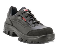 Zapatos de seguridad muy cómodos y ligeros. Para la fabricación de estos zapatos se ha utilizado una piel técnica de micro-fibra negra y se ha reforzado su empeine utilizando ECO cuero para posibles trabajos con riego de rozaduras. Su interior está fabric