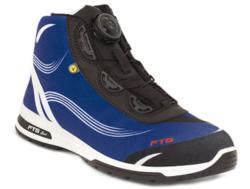 Zapato seguridad deportivo. Para la fabricación de este zapato se ha utilizado un tejido STRECH TEX, que lo hace un tejido muy elástico y cómodo. Su interior está fabricado en un tejido transpirable. Dispone de una plantilla interior anatómica, an