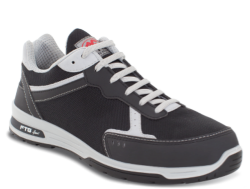 Zapatillas de seguridad deportivas unisex tipo running.Para la fabricación de este zapato se ha utilizado un textil perforado en puntera y lateral que ayuda a una mejor ventilación.Su interior está confeccionado con tejido efecto nido de abejas.