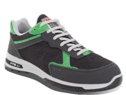 Zapatos de seguridad deportivos tipo running, para la fabricación de este zapato se ha utilizado tejido 100% poliester de alta resistencia, transpirable. Su interior está forrado por un tejido altamente transpirable que ayuda a la absorción del sudor.