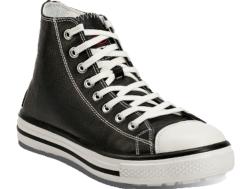 Bota de seguridad estilo urban-casual. Para la fabricación de este zapato se ha utilizado una piel flor negra TOP LEATHER. Su interior de tela no tejida. Diispone de una plantilla interior anatómica y antiestática ERGO-FIT