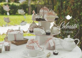 Cajitas tetera detalles shabby boda en armario