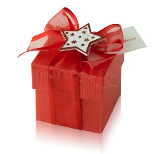 cajitas navidad cartón roja